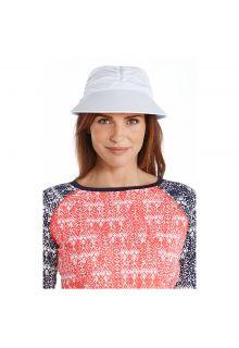 Coolibar---UV-sun-visor-for-women---White