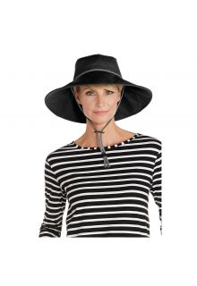 Coolibar---UV-sun-hat-with-suede-chin-strap---Black