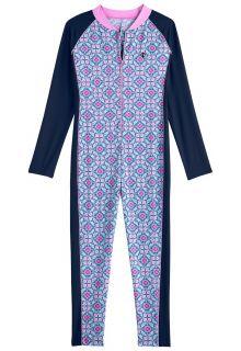 Coolibar---UV-swimsuit-for-girls---long-sleeve---Mosaïque---multi