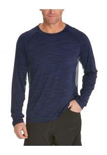 Coolibar---UV-Swim-Shirt-for-men---Longsleeve---Ultimate-Rash---Navy