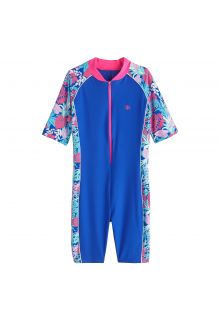 Coolibar---UV-zwempakje-voor-kinderen---Tropisch-blauw