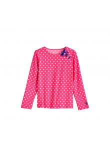 Coolibar---UV-zwemshirt-voor-meisjes---Aloha-White-Polka-dots-