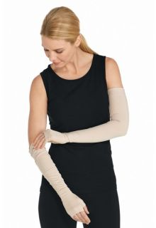 Coolibar---UV-resistant-sleeves-with-hands---Beige