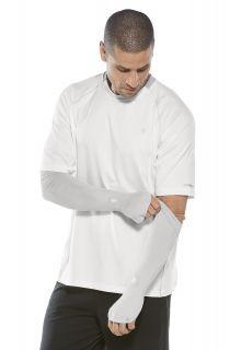 Coolibar---UV-Performance-Sleeves-for-men---Backspin---Silver