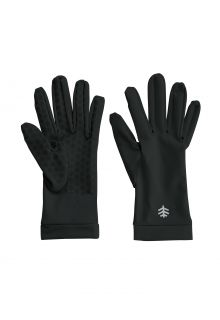 Coolibar---UV-resistant-gloves-for-adults---Sawyer---Black