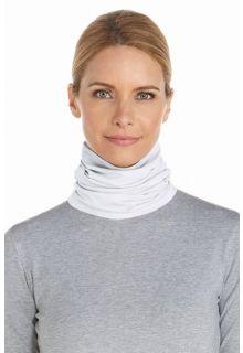 Coolibar---UV-resistant-neck-gaiter---White