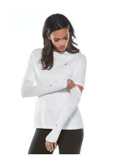 Coolibar---UV-Performance-Sleeves-for-women---Backspin---White
