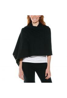 Coolibar---UV-resistant-convertible-shawl---Black