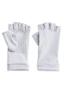 Coolibar---UV-resistant-fingerless-gloves---White