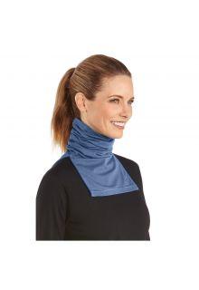 Coolibar---UV-neck-gaiter-unisex--Side-vents---Pacific-heather