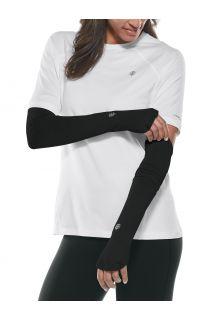 Coolibar---UV-Performance-Sleeves-for-women---Backspin---Black