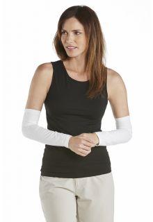 Coolibar---UV-Women-Sun-Sleeves---White