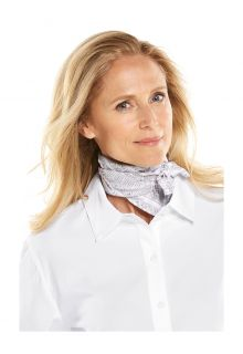 Coolibar---UV-resistant-Bandana-for-adults---Mackinac---Grey/White