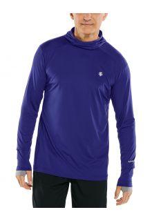 Coolibar---UV-Hooded-Sportshirt-for-men---Longsleeve---Agility---Midnight-Blue