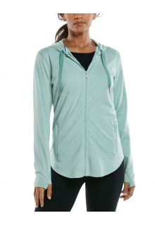 Coolibar---UV-Full-zip-hoodie-for-women---LumaLeo-Zip-Up---Light-Sage
