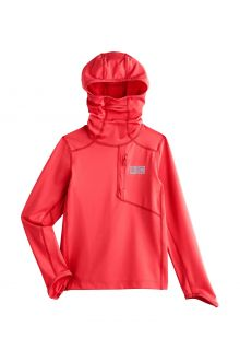 Coolibar---UV-Hooded-swim-shirt-for-kids---Andros---Hot-Coral