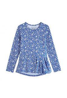 Coolibar---UV-Shirt-for-girls---Longsleeve---Aphelion-Tee---True-Blue-Floral