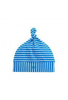 Coolibar---UV-baby-beanie-hat---blue/white-stripes