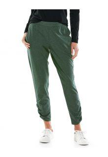 Coolibar---Casual-UV-pants-for-women---Café-Ruche---Deep-Olive