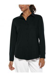 Coolibar---UV-Shirt-for-women---Rhodes-Blouse---Black