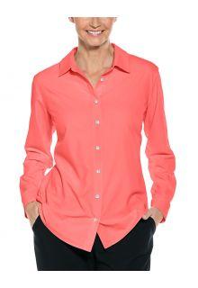 Coolibar---UV-Shirt-for-women---Hepburn-Blouse---Shell-Pink