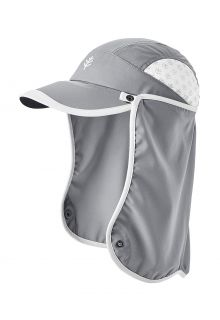 Coolibar---UV-Sport-Cap-with-neck-cover-for-kids---Agility---Steel-Grey/White