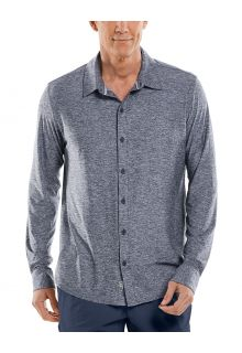 Coolibar---UV-Shirt-for-men---Vita-Button-Down---Navy