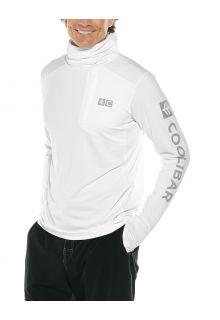 Coolibar---UV-Hooded-swim-shirt-for-men---Andros---White