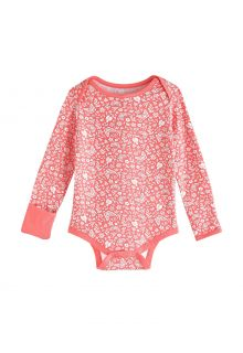 Coolibar---UV-Onesie-for-babies---LumaLeo-Bodysuit---Peach-Floral