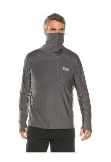 Coolibar---UV-Swim-Shirt-with-neck-gaitor-for-men---Andros---Smoke-Grey