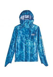Coolibar---UV-Hooded-swim-shirt-for-kids---Andros---Blue-Water