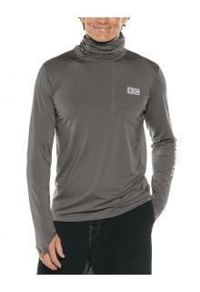 Coolibar---UV-Hooded-swim-shirt-for-men---Andros---Smoke-Grey