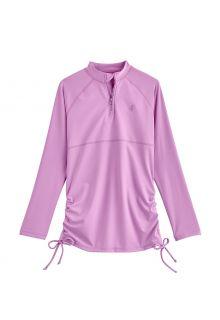 Coolibar---UV-Swim-Shirt-for-girls---Longsleeve---Lawai-Ruche---Lavender
