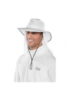 Coolibar---UV-hat-with-concealable-neck-flap-for-men-and-women---white