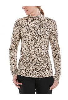 Coolibar---UV-Longsleeve-with-turtleneck-for-women---Islandia---Cheetah