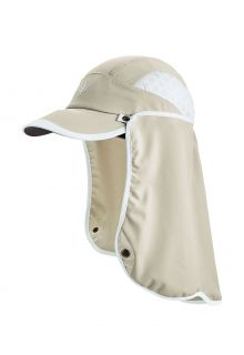 Coolibar---UV-Sport-Cap-with-neck-cover-for-adults---Agility---Stone/White