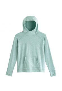 Coolibar---UV-Hooded-Pullover-for-kids---LumaLeo---Light-Sage
