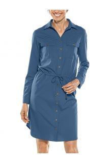 Coolibar---UV-Travel-shirt-dress-for-women---Napa---Navy
