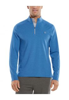 Coolibar---UV-Pullover-with-Quarter-Zip-for-men---Sonora---Cerulean-Blue