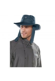Coolibar---UV-hat-with-concealable-neck-flap-for-men-and-women---dark-blue