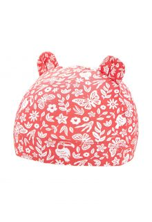 Coolibar---UV-resistant-babyhat---Critter-Fauna---Peach/Jungle-Floral