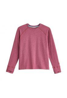 Coolibar---UV-Shirt-for-kids---Longsleeve---LumaLeo---Berry