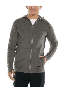 Coolibar---UV-Full-zip-hoodie-for-men---LumaLeo-Zip-Up---Charcoal