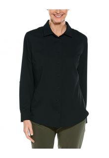 Coolibar---UV-Shirt-for-women---Hepburn-Blouse---Black