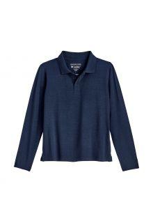 Coolibar---UV-Polo-Shirt-for-kids---Longsleeve---Coppitt---Navy