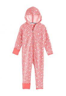 Coolibar---UV-Onesie-with-hood-for-babies---LumaLeo-Bodysuit---Peach-Floral