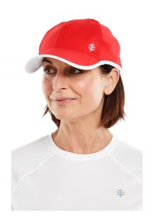 Coolibar---UV-Sport-Cap-for-adults---Lenny---Red/White