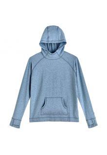 Coolibar---UV-Hooded-Pullover-for-kids---LumaLeo---Light-Blue