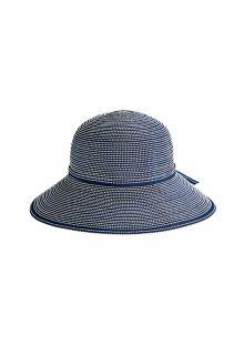 Coolibar---Wide-Brim-UV-Hat-for-girl---Tea-Party-Ribbon---Navy/White