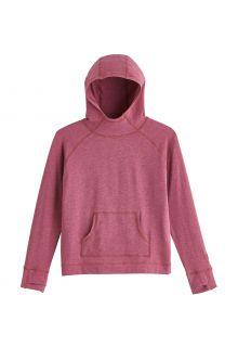 Coolibar---UV-Hooded-Pullover-for-kids---LumaLeo---Berry